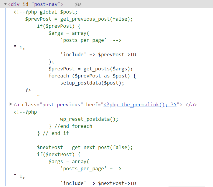 commented out php